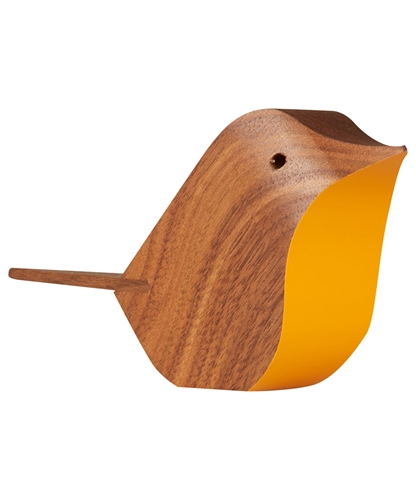 Orange Walnut Bird Home Decor Liberty.Co.Uk