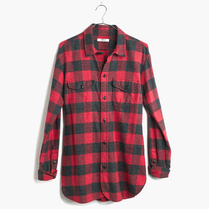 Flannel Cargo Workshirt In Buffalo Check Plaid Shirts Madewell