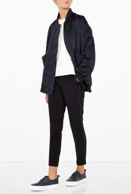 Studio Nicholson Silky Quilted Bomber Jacket By Studio Nicholson