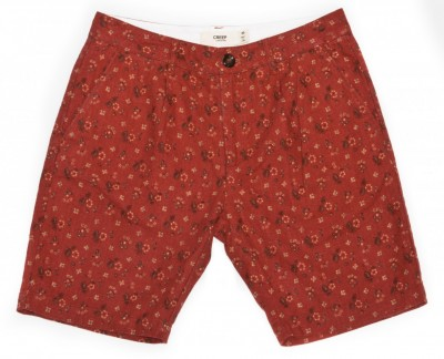 Creep Printed Linen Floral Shorts MORTAR