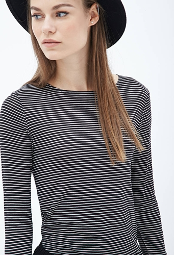 Striped Jersey Tee Clothing 2055879587 Forever 21 Eu