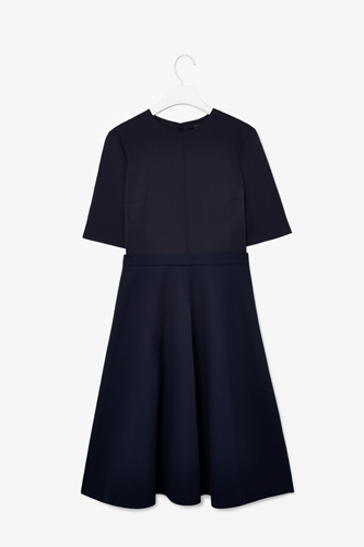 Dress With Contrast Skirt