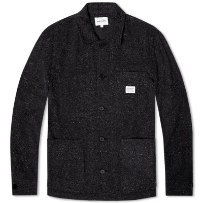 Norse Projects Kyle Rough Wool Jacket Charcoal Grey