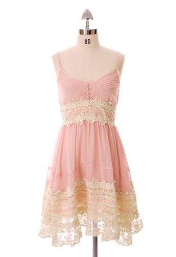 Got A Date Pink Lace Dress on LoLoBu