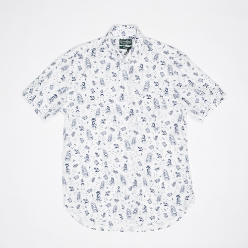 Gitman Vintage Hawaii Short Sleeve Shirt In White Atoo.Co.Uk