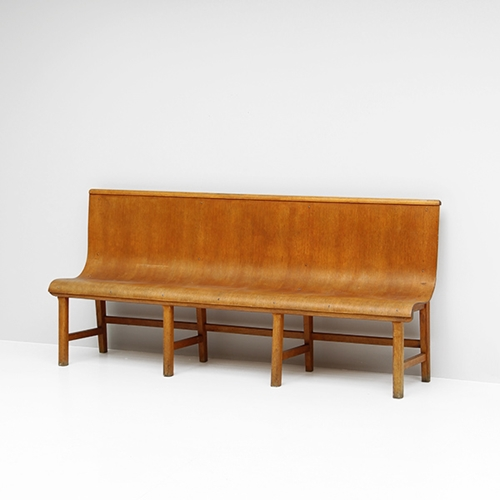 City Furniture 1950S Decorative Plywood Bench