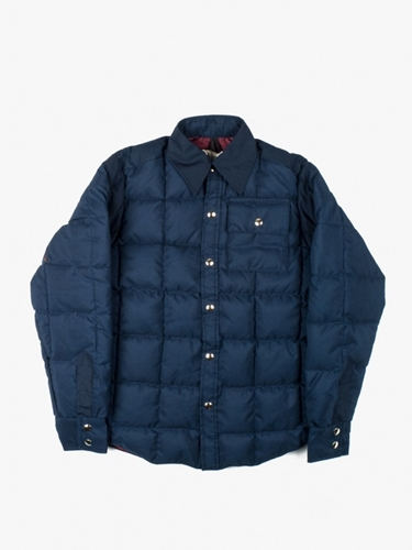 Crescent Down Works Down Shirt Navy