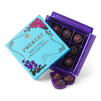 Prestat Rose And Violet Chocolate Cremes 140G