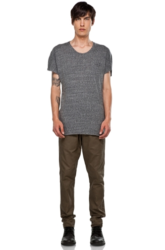 Robert Geller Ludwig Dock T Shirt in Grey