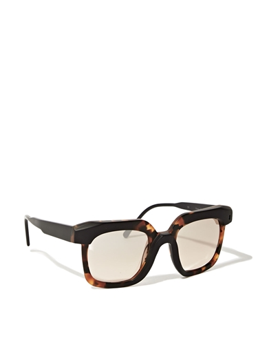 Kuboraum K8 Tortoise Black Matte Frame Light Brown Mirror Sunglasses Ln Cc