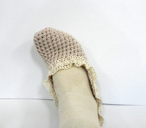 Mothers Day Women Slippers Socks Cotton Lace Trim By Senoaccessory