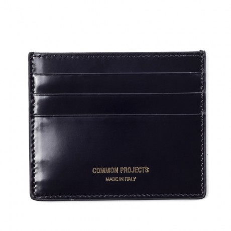 Common Projects Black Leather Card Wallet