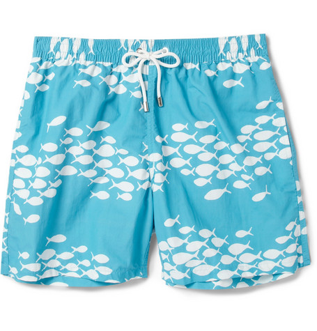 Faconnable Mid Length Fish Print Swim Shorts Mr Porter