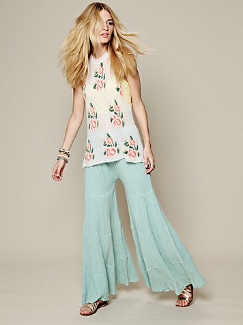 Free People Sea Drift Tiered Wideleg at Free People Clothing Boutique