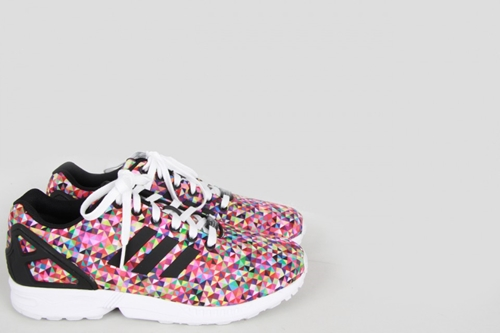 Adidas Originals By Originals Zx Flux Photo Print Arlequin Baskets Chaussures