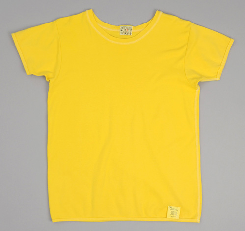 Type 353 Bound Edge Short Sleeve T Shirt Turmeric Interlock Jersey Hickoree's