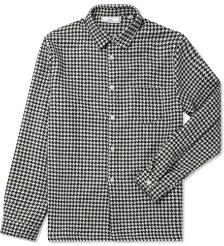 Ami Black White Houndstooth Wool Print L S Shirt Hypebeast Store. Shop Online For Men's Fashion Streetwear Sneakers Accessories