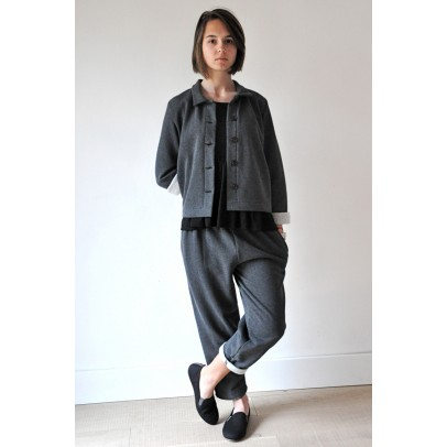 Classical Trousers Grey Sweat Shirt