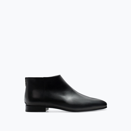 Leather Ankle Boot With Zip Shoes Man Zara United States
