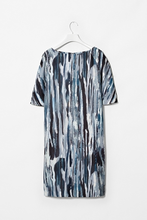 Printed boat neck dress