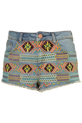 Petite Embroidered Hotpants New In This Week New In Topshop