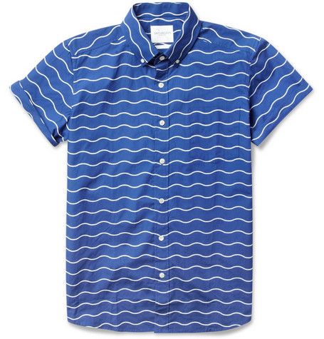 Saturdays Surf NYC Esquina Short Sleeved Wave Print Cotton Shirt MR PORTER