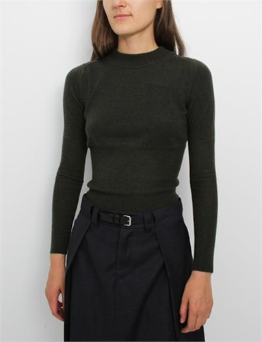 Mm6 By Maison Martin Margiela Guage 12 Cropped Sweater Forest Green