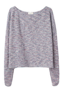 Girl By Band Of Outsiders Knit Tweed Sweatshirt La Garconne