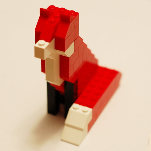 David Cole Shop Unofficial Taxidermy Fox LEGO Kit