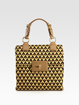 Prada Tessuto Jacquard Top Handle Bag Saks com
