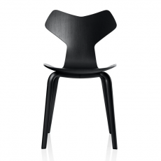 Grand Prix Chair Wooden Legs Black