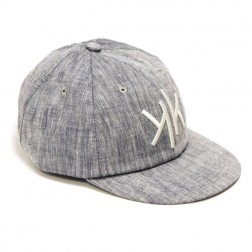 6 Panel Cap Grey Chambray