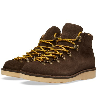Fracap M127 Natural Vibram Sole Scarponcino Boot Coffee Suede