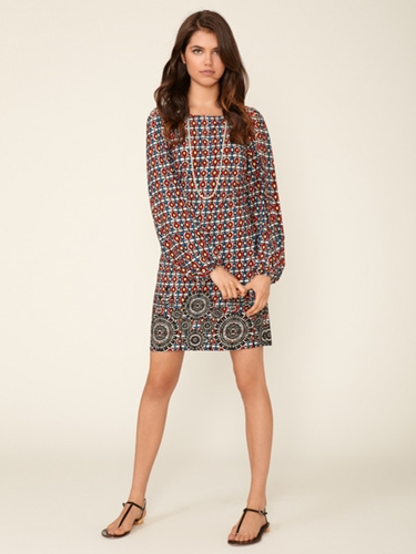 Printed Matte Jersey Twist Dress by Laundry by Shelli Segal at Gilt