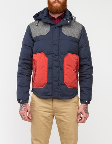 Colorblock Down Jacket