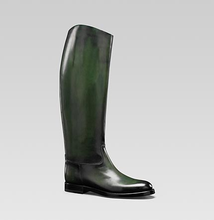 Gucci women s 1921 collection riding boot with gucci crest detail 275066BLM003020