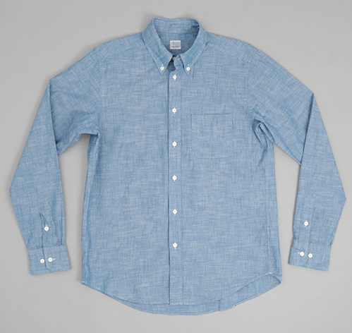 The Hill Side Chambray Button Down Shirt Light Indigo Hickoree's