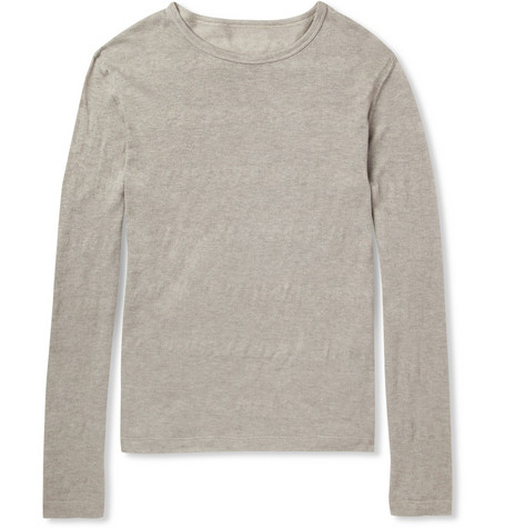 The Elder Statesman Fine Knit Cotton And Cashmere Blend Sweater Mr Porter
