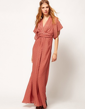 Winter Kate Winter Kate Kimono Maxi Dress in Printed Silk at ASOS
