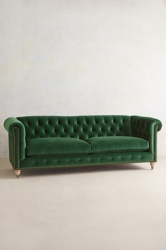 Velvet Lyre Chesterfield Sofa Anthropologie.Com