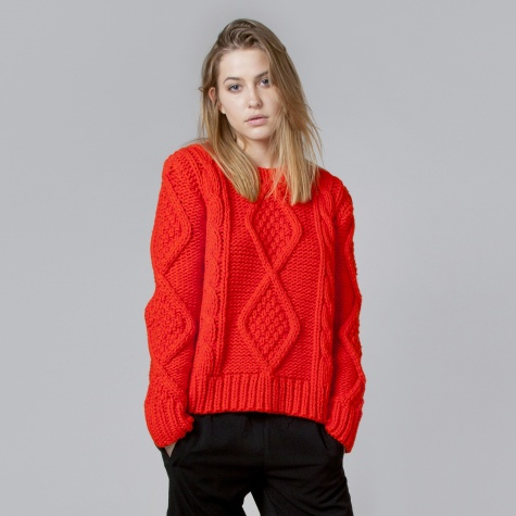 Mm6 By Maison Martin Margiela Knit Jumper Red