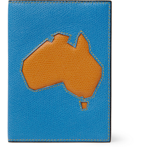 Valextra Australia Textured Leather Passport Cover Mr Porter