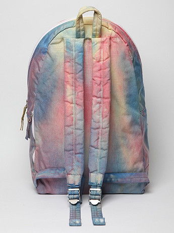 Porter Jerry Tie dye Day Pack in psychedelic tie dye at oki ni
