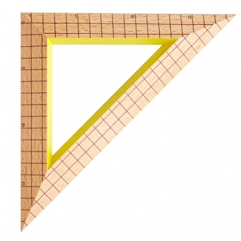 Wooden Ruler Triangle Red Grid Home Office Decoration Finnish Design Shop
