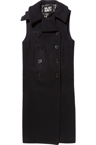Nlst Double Breasted Wool Blend Vest Net A Porter.Com