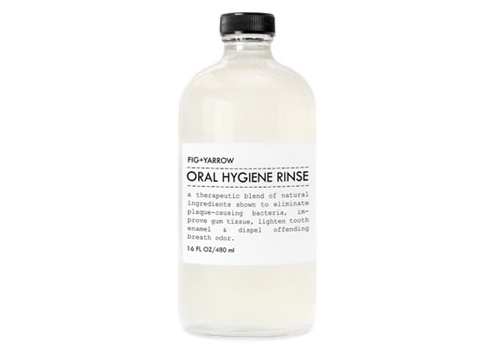 Oral Hygiene Rinse Mouth Wash In Glass Bottle By Figandyarrow