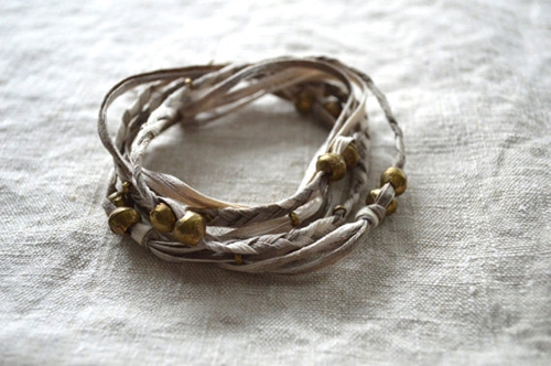 Kanae Taupe Necklace Wrap Bracelet By Untoldimprint On Etsy