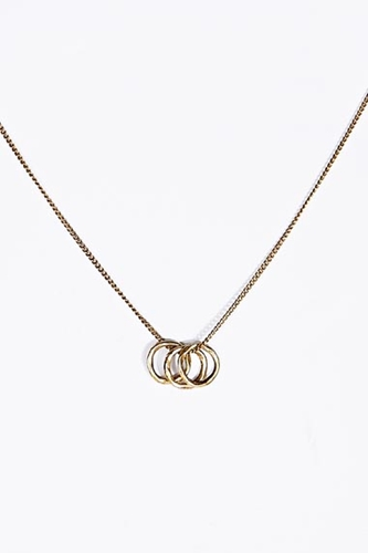 Three Circle Charm Necklace In Gold At Urban Outfitters
