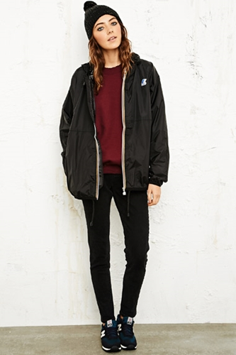 K Way Claudette Waterproof Jacket In Black At Urban Outfitters