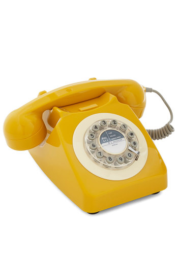 Ring True Desk Phone In Yellow Mod Retro Vintage Electronics Modcloth.Com